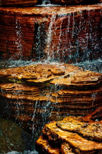 Full frame shot of water flowing on wall