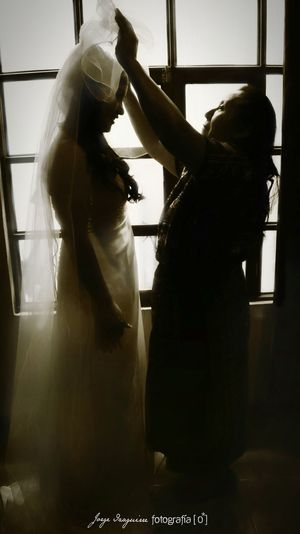 Wedding Day Wedding Bride Mother And Bride Love Guatemala Blackandwhite Black And White Photography