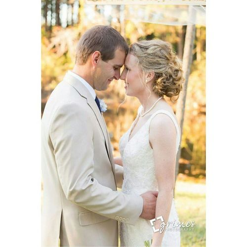 Mr. & Mrs. Henderson! Grimesphotography Ncbride Southernbride Southernwedding ncweddingphotographer trippfarms greenvillenc groom wedding photographer