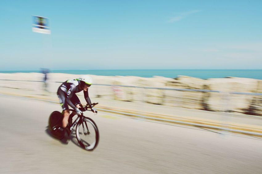 Cycling Bicycle Sea Riding Race Tirrenoadriatico Italy Speed Sprint