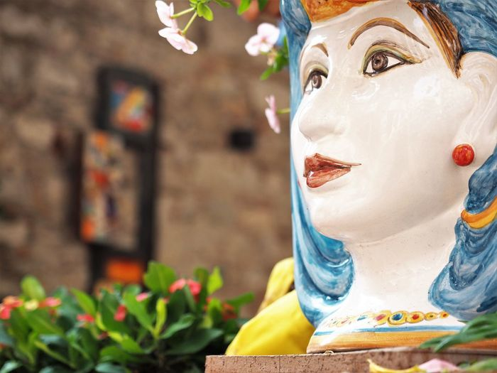 Sicily Sicily, Italy Architecture Art And Craft Close-up Craft Creativity Day Female Likeness Flower Flowering Plant Focus On Foreground Freshness Human Representation Italy Italy❤️ Moorish Nature No People Outdoors Plant Representation Sculpture Sicilysummer Statue