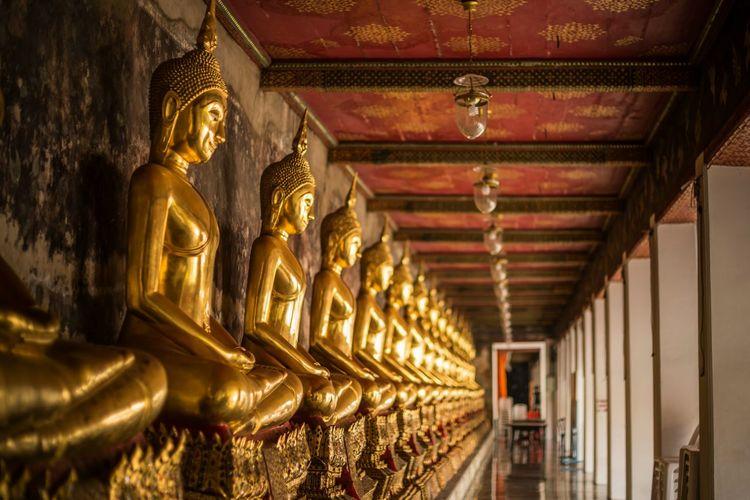 Buddha Statues Buddha Buddhism Buddist Temple Buddha Statue Religion Religious  Religious Place Golden Buddha Temple Thailand