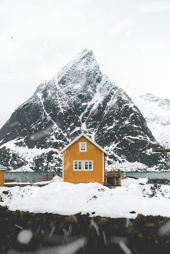 Cabin love Cabin Cold Temperature Snow Winter Architecture Built Structure Building Outdoors Mountain Scenics - Nature House