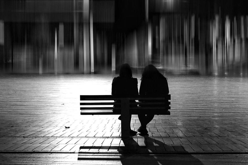 Rear View Real People Two People Full Length Sitting Bench Piano Women Day Indoors  Water People Adult Silhouette Street Streetphoto_bw Blackandwhite Traveling Travel Street Life Light And Shadow Blurred Motion Relaxing Sitting Waiting