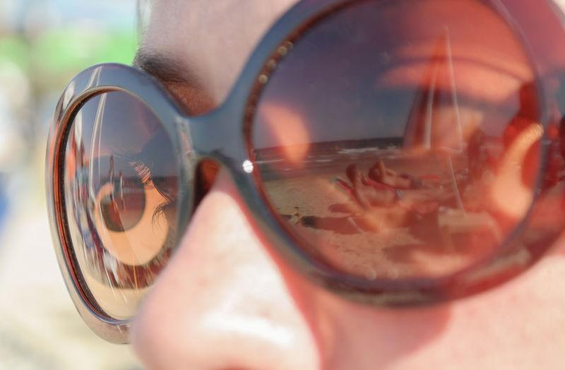 Reflection on sunglasses