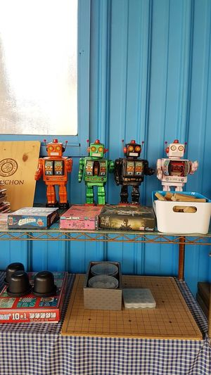 EyeEm Selects No People Outdoors Toy Robots Colourful Blue Toys Games Retro Toys Tin Robots