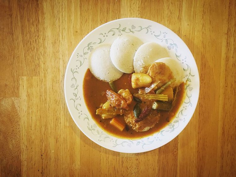 My Favorite Breakfast Moment Iphonephotography Idly N Sambar HealtyFood Healthy Eating Indian Food Indian Breakfast EyeEm Best Shots