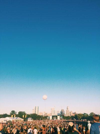 Austin City Limits Large Group Of People City Crowd Blue Fun Built Structure Architecture