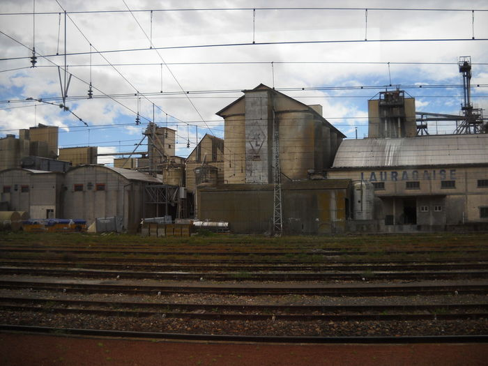 2012 Architecture Building Exterior Cloudy Day France 🇫🇷 Industry Near Carcassone No People Outdoors Power Line  Rails