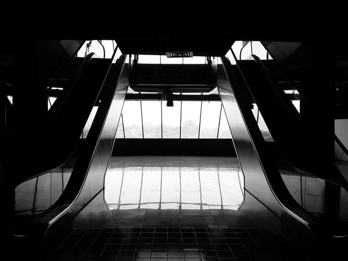 Escalators Blackandwhite Photography Siluet Modern Architecture Architectureporn Architecturephotography Interior Detail Futuristic Architecture