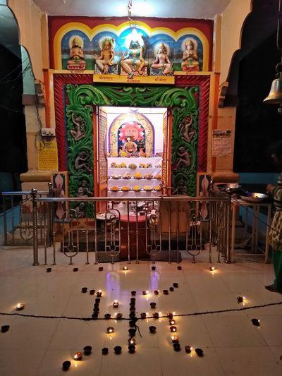 Cross in temple