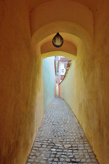 Architecture Brasov Romania Built Structure Day No People Rope Street The Way Forward Tunnel