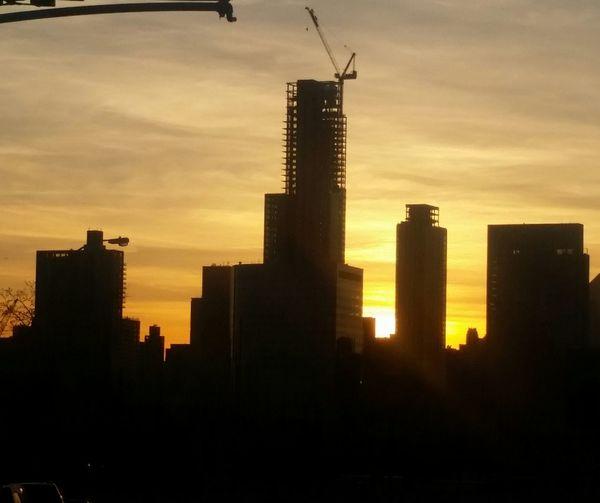 Saturday Sunset at Long Island city