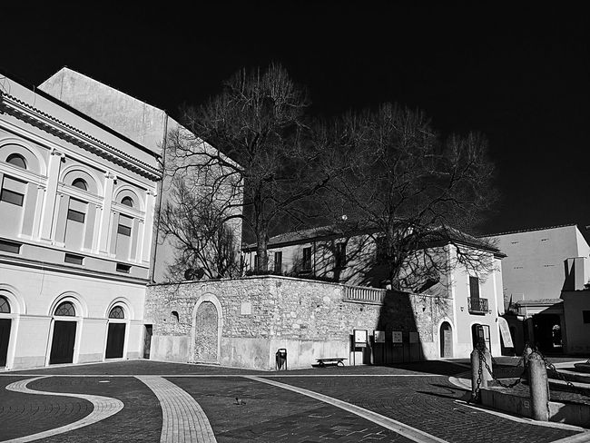 Italy Italia Campania Campaniafelix Benevento Blackandwhite Streetphotography EyeEm Best Shots - Black + White Historical Building Architecture Building Exterior Built Structure Travel Destinations Tree Showcase December My Passion ❤ EyeEm Best Shots My Point Of View My Town Travel Photography Low Angle View Outdoors No People Sky Day