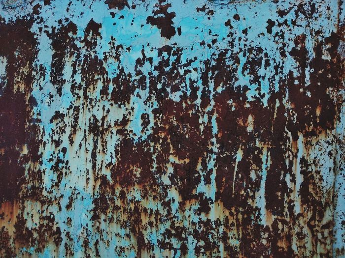 Full frame shot of old rusty metal wall