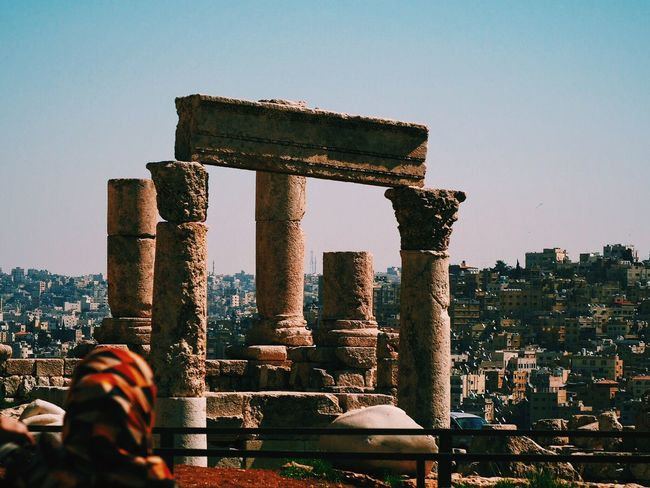 You can see with her eyes... Amman Citadel Cityscape Cityview Headscarf History Roman Romans Ruins