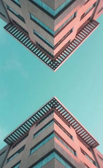 Colorful architecture. series of tunisian buildings from a colorful perspective.