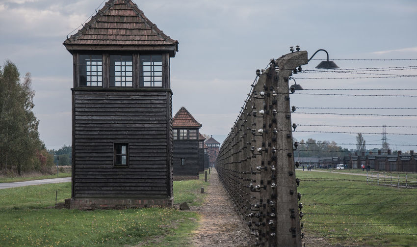 auschwitz Auschwitz  Auschwitz Birkenau Auschwitz Memorial Auschwitz II - Birkenau Auschwitz Monument Oswiecim Day Architecture Sky Tower Old Konzentrationslager Auschwitz Nazism Holocaust Holocaust Memorial Field Building Built Structure Place Of Worship Landscape