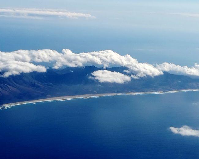 Water Sea Blue Beauty Mountain Sky Cloud - Sky Travel Landscape Plane Fly