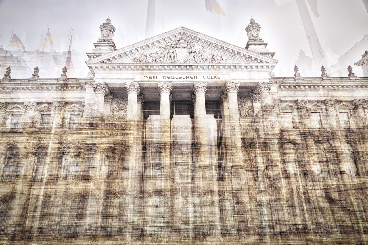 Double Exposure Of Reichstag