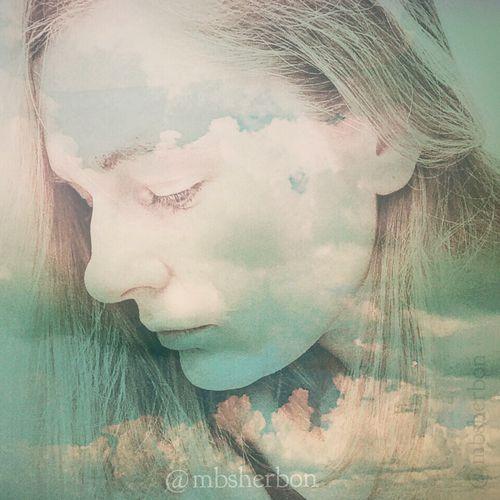 Eye4photography  Portrait Self Portrait Double Exposure Magic Clouds Innerself Secret Landscape_Collection Portraiture