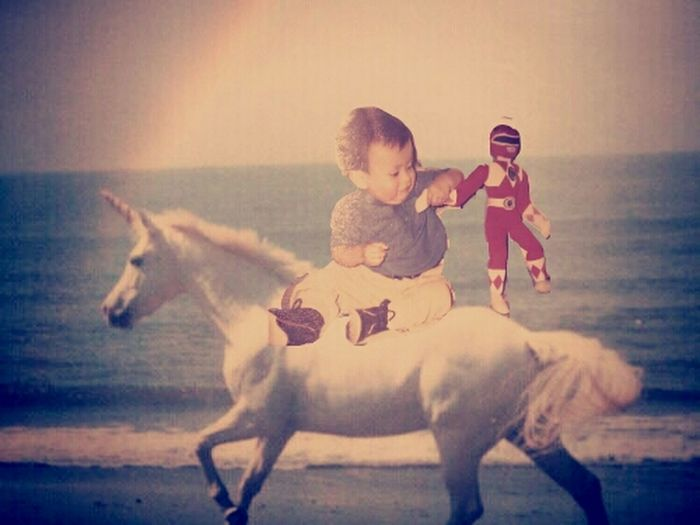 I used to love power rangers and riding unicorns when I was little
