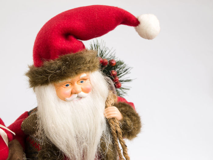 santa toy christmas Santa Toy Portrait Red Headshot Studio Shot Mid Adult Bizarre Close-up Christmas Ornament Christmas Decoration Christmas Bauble Christmas Christmas Market Santa Claus Christmas Present Santa Hat