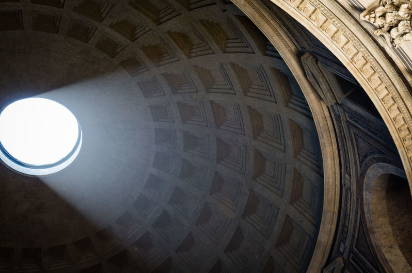 Architecture Famous Place Italia Italy Light Light And Shadow Oculus Pantheon Place Of Worship Roma Rome Showcase July