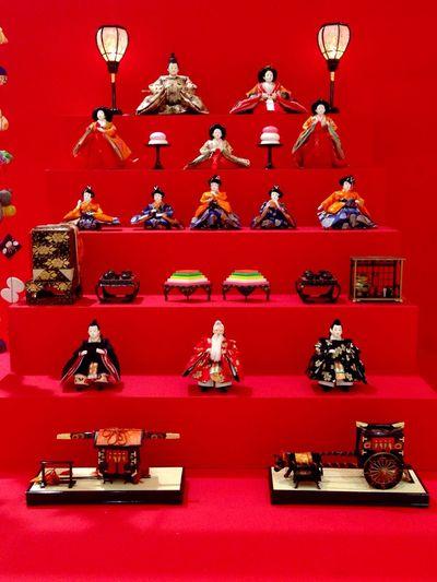 ひな祭り 雛人形 赤 日本