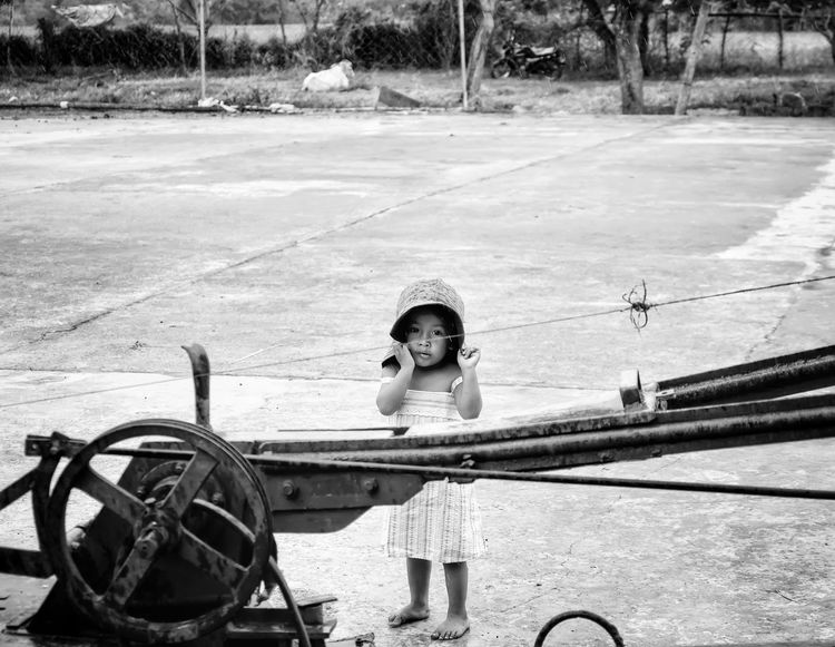 One Person Real People Outdoors Portrait Day Blackandwhite Black & White Black And White Child Childhood FUJIFILM X-T10 Fujifilm_xseries Fujifilm Fuji Farm Life Farmland Farm