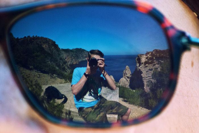 Holiday Ibiza Island Life Leisure Activity Mirrorselfie Outdoors Photography Rock Rock Formation Sea Selfportrait Summer Sun Sunglass Selfie Sunglasses Vacation Water