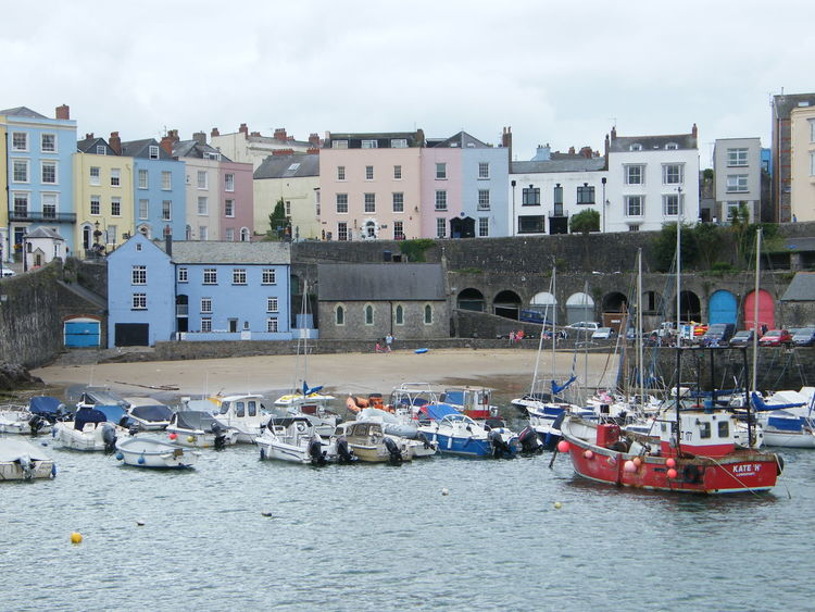Architecture Building Exterior City Cityscape Day Fishing Boat Nautical Vessel Outdoors Pembrokeshire Pembrokeshire Coast Pembrokeshire Coastal Path Seaside Seaside Town Tenby Tenby Harbour Travel Destinations Water