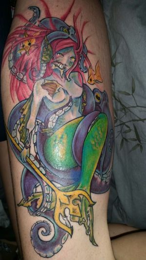 New Tattoo Zombie Mermaid Octopus Queen Of The Ocean Girls With Tattoos Milf