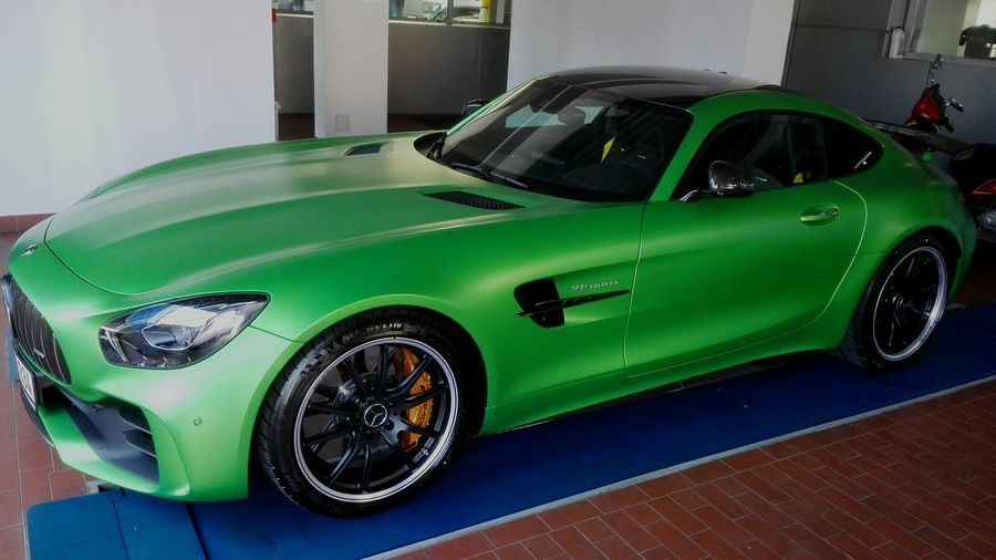 Carsofeyeem Sports Car Collector's Car Shiny Transportation Car Luxury Mercedes-Benz Showroom Photo Automotive Photography AMG Power AMG GTR Popular Photos Carsofeyeem business finance and industry Green Color Indoors  No People
