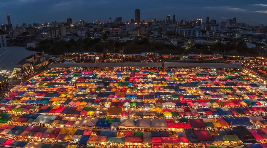 Thailand Bangkok Nightphotography City Night Market ASIA Asean Colors