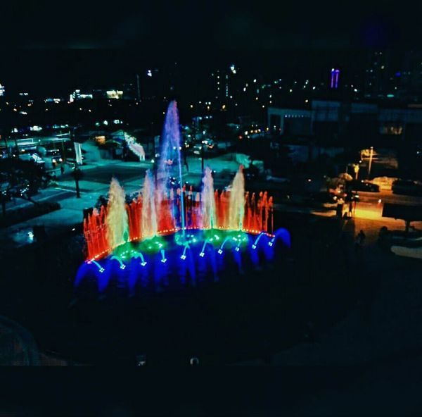 Rainbow Colored Fountain!! Show your pride!! 🌈 Rainbow Colors Night Lights Pride2016 Colorful First Eyeem Photo
