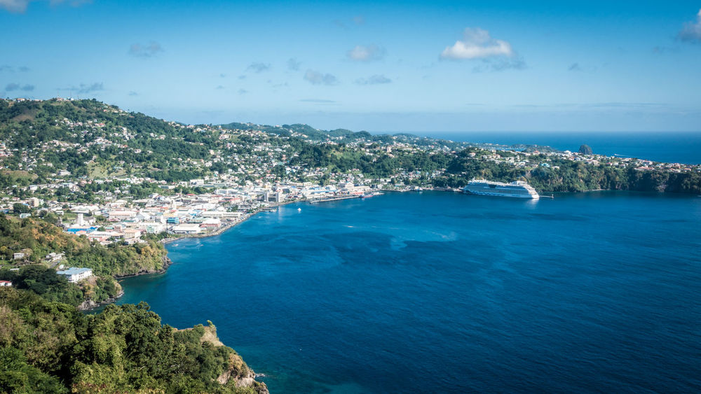 View over Kingstown from Fort Charlotte. Aida AidaDiva Fort Charlotte Kingstown St. Vincent & The Grenadines, Carribean St.Vincent Aidacruises Architecture Blue Carribean City Cityscape Horizon Over Water Mountain Sea Water Waterfront EyeEmNewHere