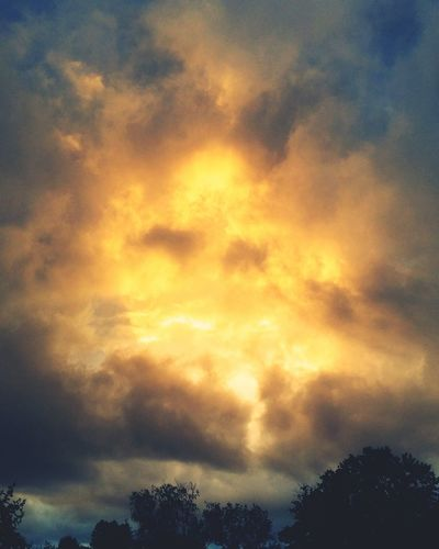 Sunset Nature Sky Dramatic Sky Storm Cloud Beauty In Nature