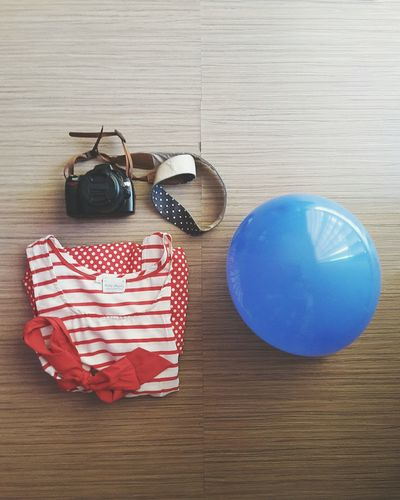 🎈 Blue Wave From My Point Of View Balloons Balloons🎈 Stripes Organized Flatlay