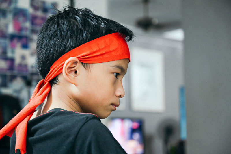 Taken with a Z7, loving it :) Headshot Portrait Childhood One Person Child Focus On Foreground Close-up Real People Looking Side View Indoors  Lifestyles Contemplation Teenager Innocence Asian Boy Head Strap Nikon Z7