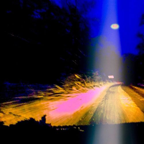 My fake UFO photo! I want to believe! UFO Blizzard Driving Night Time Danger Light In The Sky Getting Creative Alien Encounters Hoax Hoaxer
