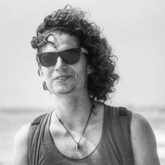 candid Monochrome Blackandwhite Portrait Beach