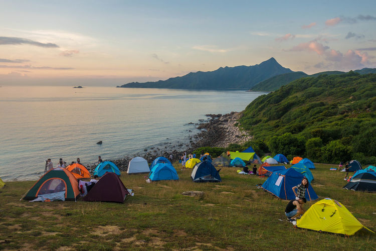 Camping, Tap Mun Island Cloud Hong Kong Travel Wanderlust Adventure Beach Camping China Clouds And Sky Grass Is Always Greener On The Otherside! Island Islandlife Mountain Nature Outdoors Shelter Sky Southeastasia Sunrise Sunset Tap Mun Tent Tranquility Travel Destinations Water