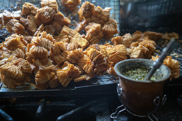 Close-up of food for sale at market