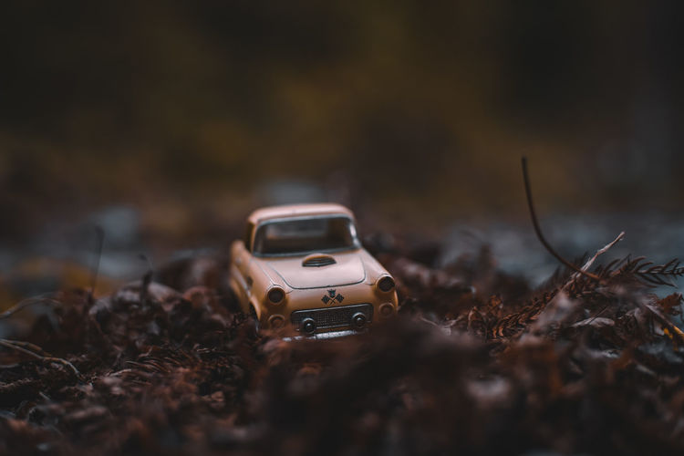EyeEm Japan ASIA Shootermag AMPt_community Thedarksquare Selective Focus Mode Of Transportation No People Toy Transportation Land Vehicle Car Land Day Motor Vehicle Field Dirt Toy Car Nature Surface Level Abandoned Small Outdoors Close-up Brown