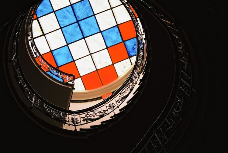 Canon AE-1 Filmcamera Cityscapes Analog 35mm Film Staircase Stained Glass Spiral Filmisnotdead Berlin The World Needs More Spiral Staircases Elegant Ornate Colorful