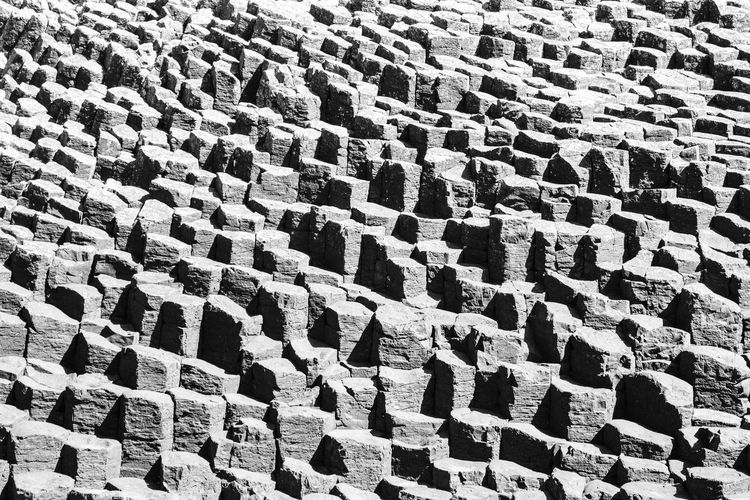 Staffa, Fingal's Cave Rock Formation Rocky Coastline Cave Day Geometry Hexagon Islandlife Landscape Nature No People Outdoors Pattern Rock - Object Rocks Seascape Stone Summer