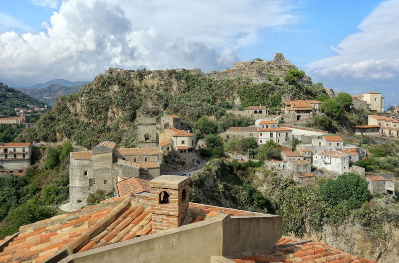 Landscape Nature Savoca, Sicily Messina Sicily Italy Tree Mountain Sky Architecture Cloud - Sky Building Exterior Mountain Range