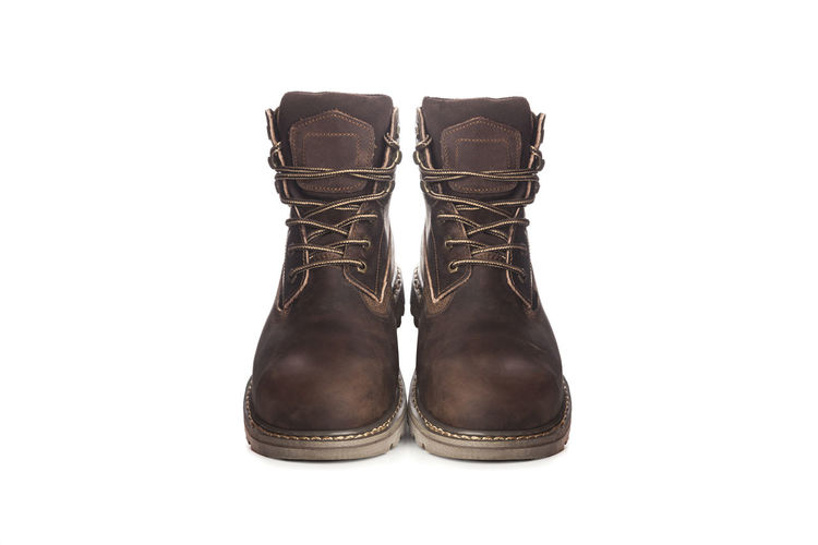 Man ankle boots, brown color, with nubuck leather Man Ankle Boots, Brown Color, With Nubuck Leather
