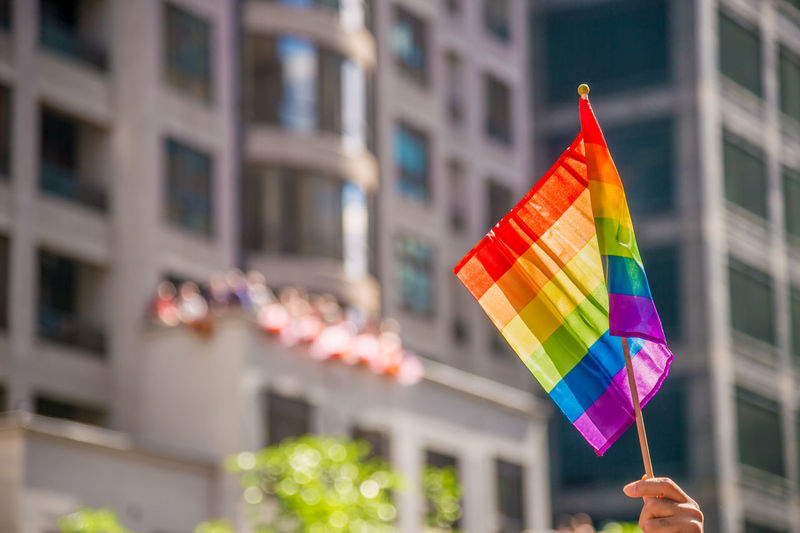 Hand holding a gay rainblow flag with copyspace Flag Day Celebration Focus On Foreground Human Hand Hand City Gaypride GAY FLAG Rainbow Flag Gayparade Prideparade Gay Rights Lgbt LGBT Rainbows Lgbt ❤️ Lgbtq